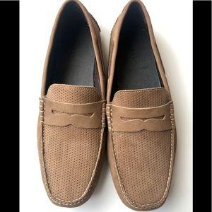 Johnson & Murphy Sheepskin Perforated Driving Shoe